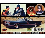 Batmobile Model Kit from the TV show with Batman and Robin figures