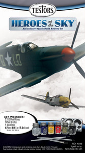 4036 Heroes Of The Sky Model Kit with 2 Planes &  Paint
