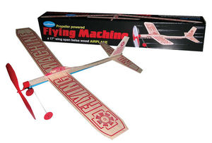 Powered Balsa Wood Airplane Kit with 17