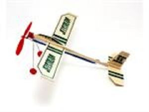 Jetstream Rubber Band Powered Balsa Glider-USA Made Guillow 55