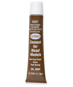 Extra Fast-Drying Wood Cement (5/8 oz) Testors 3503