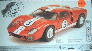 430023 Ford GT 40 Metal Body by  Testors 1:43  Scale