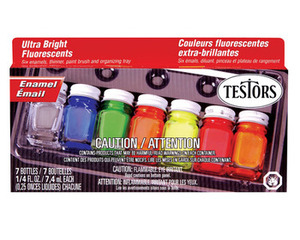 Fluorescent Paint Set Testors Number 9132
