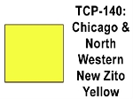 Chicago & North Western New Zito Yellow Acrylic Paint (1 ounce bottle) Tru-Color 140