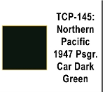 Northern Pacific 1947 Passenger Car Dark Green Acrylic Paint (1 ounce bottle) Tru-Color 145