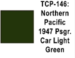 Northern Pacific 1947 Passenger Car Light Green Acrylic Paint (1 ounce bottle) Tru-Color 146