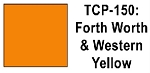Fort Worth & Western Yellow Acrylic Paint (1 ounce bottle) Tru-Color 150