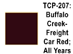 Buffalo Creek Freight Car Red All Years Acrylic Paint (1 ounce bottle) Tru-Color 207