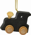 Black Train Engine Christmas Tree Ornament Maple Landmark 60410