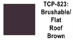 Roof Brown Flat Brushable Acrylic Paint (1 ounce bottle) Tru-Color 823