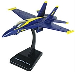 F-18 Blue Angel Preassembled Highly Detailed Replica Plastic Model WowToyz IN18B
