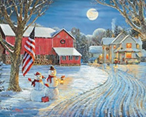 Moonlight Greeting-1000 piece jigsaw puzzle WMP1135