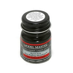 Metalizer Burnt Iron (non buff) Lacquer (1/2 oz) Testors Model Master 1424