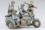 German BMW R75 w/Side Car Kit 1:35 Scale Tamiya Model Kit 4950344992850