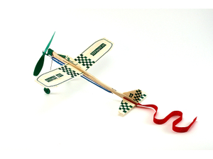 Rubber Band Powered Propeller Driven Barnstormer