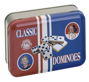 CC TTD Dominoes in a Classic Tin------includes a full set of double six dominoes