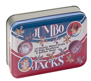 CC TTJ Jumbo Jacks in a Classic Tin---includes jacks, handbook, and rubber balls