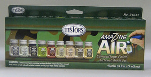 34034 Amazing Air Camo Enamel Airbrush  Paint  Refill  Set