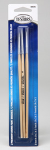 Premium Round Paint Brushes-Set of 3 Testors Model Master 8863