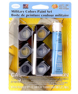 Military Acrylic Paint Pod Set Plus Non-Toxic Glue Testors 9101