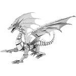 PREMIUM SERIES SILVER DRAGON Metal Model Kit ICX023