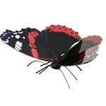 Red Admiral Butterfly Metal Model Kit MMS129