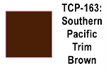 Southern Pacific Depot Trim Brown Acrylic Paint (1 ounce bottle) Tru-Color 163