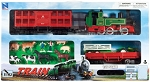 Deluxe Steam Train w/ Livestock Cars & Vehicles WOW WT-TRLT
