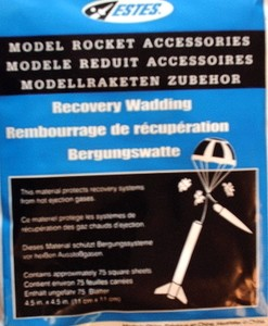 Recovery Wadding for Model Rockets Estes 2274