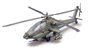 AH64 Apache Helicopter Plastic Model Kit